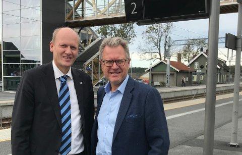Statssekretær Anders Werp (H) gjentok under dagens jernbaneseminar at det blir mulig å kjøre togene fra Mysen til Oslo via nye Follobanen allerede fra 2021. Det er Eidsberg-ordfører Erik Unaas (H) meget fornøyd med.