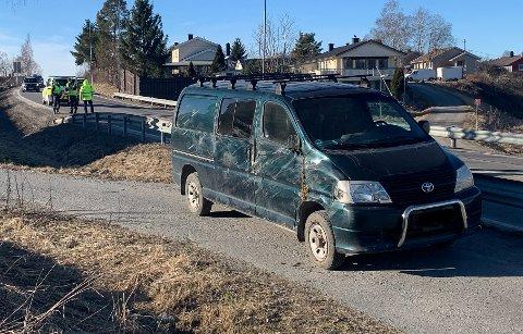 ULYKKE: Nødetatene rykket ut søndag ettermiddag til en ulykke i Spydeberg.