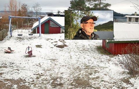 Denne lekeplassen reagerte Anders Drolsum fra Sand på da han var ute og gikk tur på Bergeråsen.