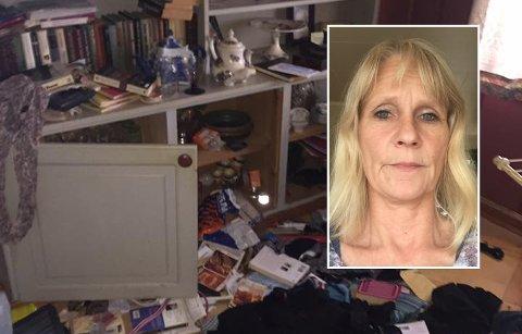 RYSTET: Lise Minge (innfelt) kan ikke tro at noen har brutt seg inn i hennes avdøde mors hjem.