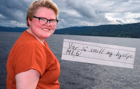 TAPT GRUNNSKOLETID: «Vær så snill og hjelp meg!», skrev Maren Søfferud fra Fluberg i skoleboka si da hun gikk i 6. klasse på barneskolen. Først nå, snart 20 år gammel, klarer hun å kjenne glede ved livet.