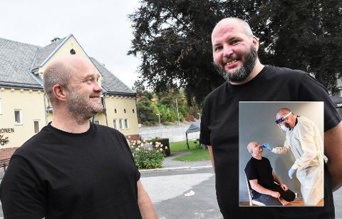 STARTER Jostein Ruud (til venstre på begge bildene, og Per Christian Mustorp starter nå sitt selskap Djerv Medic AS.