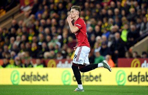 Manchester Uniteds Scott McTominay får ros av Ole Gunnar Solskjær.