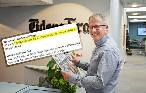 Ole Knut Alnæs lar seg ikke skremme av e-postsvindelen.