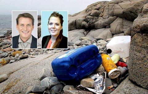All plastemballasje på markedet i 2030 må være resirkulerbar, og all unødvendig plastemballasje og bruk av plast må reduseres, skriver Kårstein Eidem Løvaas og Lene Westgaard-Halle.