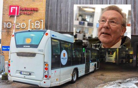 MOBIL-TRØBBEL: Ap-politiker Steinar Gullvåg tror det er vrient for mange eldre ikke å kunne betale med kontanter på bussen. – Det er ikke alle som kan bruke mobilbetaling.