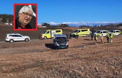 HADDE ENGLEVAKT: Tom Cato Abrahamsen ble reddet av sjåføren som kom bak ham da han fikk hjertestans på Andebuveien.