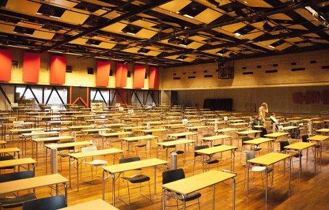 TESTING: 381 studenter testet seg i Aud.Max. på tirsdag. Ingen tester var positive.