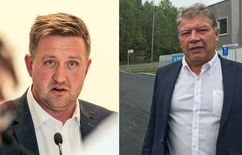 FORSKJELLER: Nesoddens ordfører Truls Wickholm og tidligere Frogn-ordfører Haktor Slåke ligger på hver sin side av skattelistene.