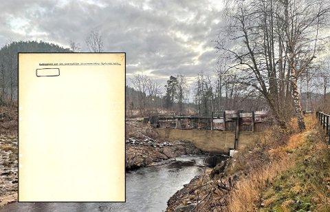 FUNN I ARKIVET: Dette dokumentet fra 1907 håper Fossberg Kraft skal være et gjennombrudd i kampen om å gjenetablere demning og kraftverk på Søndeled.