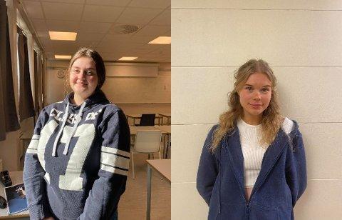 Martine Brokeland og Katarina Watts  er russ ved Risør videregående skole. De forteller at russetida i år byr på utfordringer.
