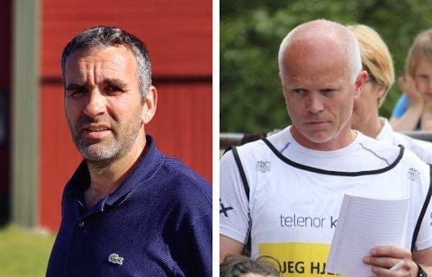 GA BESKJED: Jakob Larsen (Risør Idrettsråd) og Thomas Axelsen (Risør Idrettslag) undrer seg over at idretten ikke har fått en mer sentral plass i utkastet til frivilligstrategi.