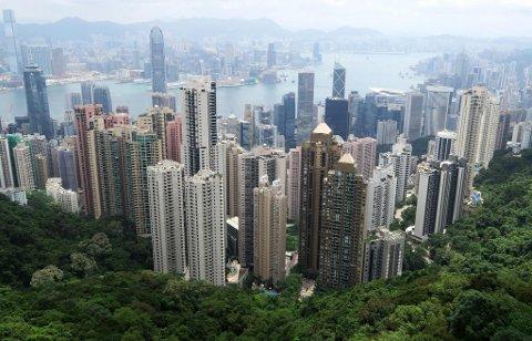 KINA: Hong Kong sett fra Victoria Peak. Europeiske Reiseforsikring dekker avbestillinger til hele Kina til og med 25. februar, for reiser som skjer senest 31. mars 2020.