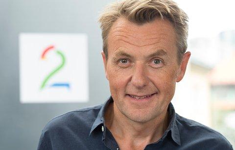 SEERTALL: Fredrik Skavlan under TV 2s høstlansering. Nå flyttes talkshowet grunnet sviktende seer. (NTB scanpix)
