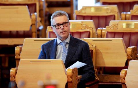 Oslo 20200520.  Fiskeri- og sjømatminister Odd Emil Ingebrigtsen (H)  fratrer av forsiktighetsgrunner. Foto: Vidar Ruud / NTB scanpix