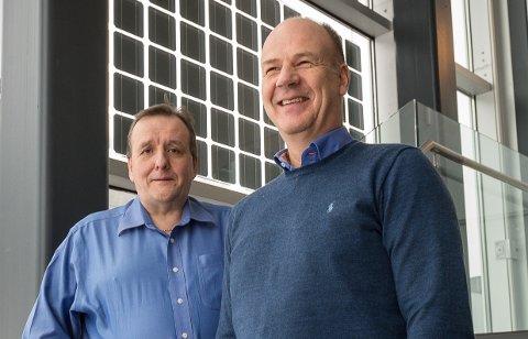 Endelig kan administrerende direktør Gøran Bye og økonomidirektør Øyvind Mølmann se lysere på framtiden for Norwegian Crystals AS.