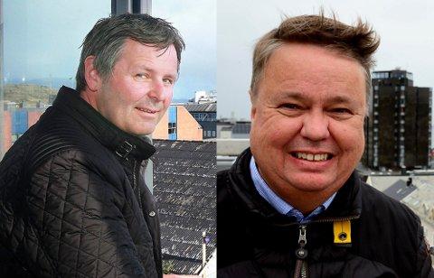 Jørn Vidar Johansen i Gunvald Johansen og Roy B. Nilssen i Corponor står bak mye av boligbyggingen i Bodø.