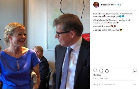 Karin Hindsbo (44) og Martin Smith-Sivertsen (53) giftet seg i Oslo.
