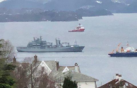 Flere lesere har kontaktet BA med spørsmål om å hva som foregikk på Byfjorden fredag.