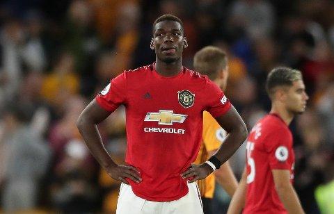 Paul Pogba er uaktuell til Manchester Uniteds hjemmekamp mot Leicester lørdag.