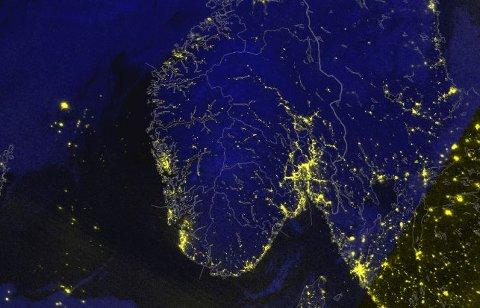 Ikke en sky å se over hele Sør-Norge.