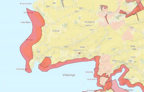 Verdifull kyststripe: Arealer i Vistnesvågen er vurdert som svært verdifullt friluftsområdet i Randaberg kommune i en ny plan.