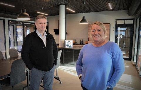 Kontorfellesskap i sentrum: Audun Ellingsen og Ann-Elin Lillesund vil skape et kreativt arbeidsfellesskap med ulike bedrifter i et innovativt og urbant miljø i Vistnesveien 5 i Randaberg sentrum.