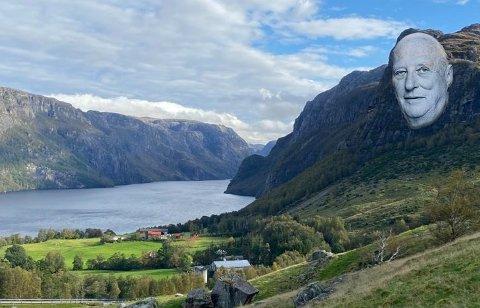 MOUNT MÆLAND: Omtrent sånn ser Arvid Mæland føre seg Husafjellet ein gong i framtida.