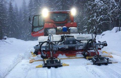 Her er alt pakket, men ikke helt klart, for å begi seg ut på skitur. Iløpet av nærmeste framtid vil det være 40 kilometer løyper klare.