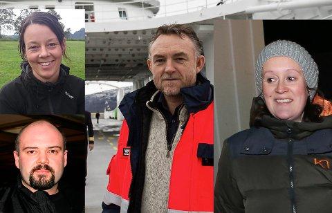 TOPPKANDIDATANE: Svein Olav Senneset har med seg Bjørgulf Myklebust, Irene Storøy og Jeanette Kristiansen Grotle i toppen av Venstre-lista 2019.