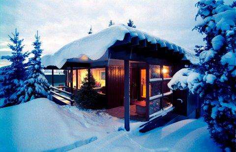 FJELLHYTTE: Mange vil på hytta i jula, viser ei ny spørjegransking.