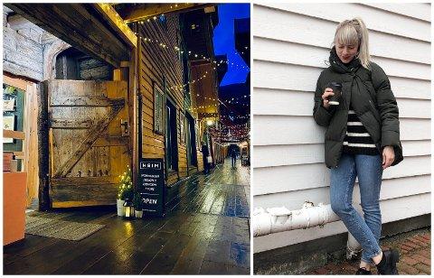 KONTOR BLEI BUTIKK: Jeanette Tonning Sundal var eigentleg på jakt etter kontorlokalet då eit butikklokae på Bryggen i Bergen vart ledig.
