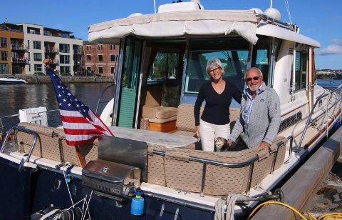 Kommer tilbake: Marcia Hayes og George D. Prigmore skal en tur til Oslo før de kommer tilbake til Fredrikstad. Göteborg og Göta kanal venter.