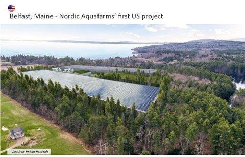 Fabrikken i Maine i USA rykker nærmere. Myndighetene gir grønt lys. Men motstand fra lokale miljøvernorganisasjoner, fiskere og grunneiere gjør at det ikke er mulig å sette noe tidspunkt for oppstart.