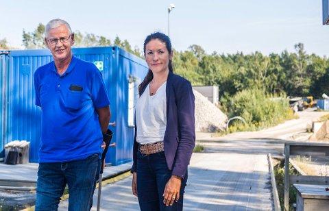 Jon Andresen er daglig leder i Ole & Peder Ødegaard , Ingrid Bjørdal i Norsk Gjenvinning m3. Selskapene samarbeider om driften av deponiet. Innen 15. april må de rette opp feil og melde fra om hva som er gjort.