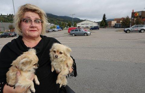 ILLE: – Det var alt annet enn noe hyggelig syn som møtte oss søndag morgen, forteller Lise Tyskeberg, som måtte avbryte lufteturen med hundene. I stedet ble det søppelplukking.
