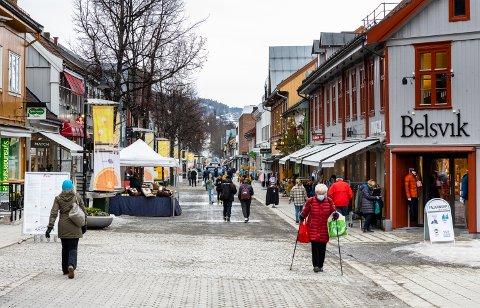 Gågata i Lillehammer sentrum.
