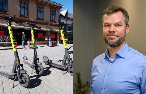 Kommuneoverlege Morten Bergkåsa i Lillehammer kommune ber folk være forsiktige når de tar i bruk elsparkesyklene.