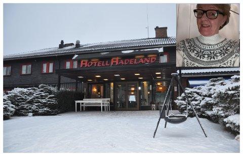 HUSER NRK: NRK har bodd på Hotell Hadeland under helgas Norgescup i langrenn på Lygna skistadion. May Blækkerud er glad for å være på jobb.