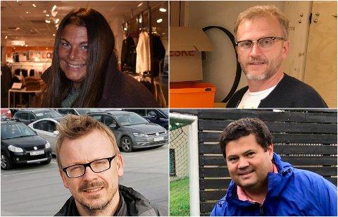 LOKALE SØKERE: Mari Kvale Lysen, Trond Meberg Lysenstøen, Torstein Nybø og Haakon Struksnæs Fjone er fire av søkerne til stillingen som ny kultursjef i Gran.