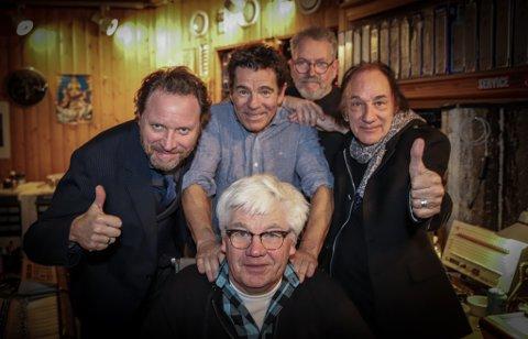 Øverst fra venstre: CC Cowboys-vokalist Magnus Grønneberg, trommeslager Agne Sæther, Jørn Christensen, Per Vestaby og Kai Andersen