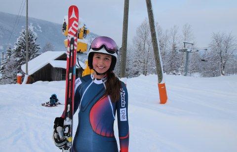 To 2. PLASSER I FARTSUKA: Haugesunderen Bergitte Varne fra Plogen Skiklubb presterte svært bra under Fartsuka på Hafjell i helgen. Varne ble nummer to i begge Super G-rennene. FOTO: PRIVAT