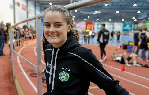 PÅ STARTSTREKEN: Margrete Baustad Jørgensen er en av 20 utøver fra HIL som skal delta i helgens UM i friidrett.