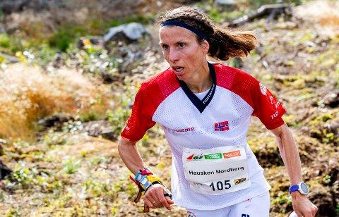 MÅLBEVISST 43-ÅRING: Anne Margrethe Hausken Nordberg vant sitt kvalifiseringsheat tirsdag. Fredag løper hun for VM-medalje.