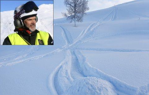 Kontroll: Carl Norberg og Statens naturoppsyn kom over flere steder med lekekjøring utenfor løypenettet under helgas kontroller.