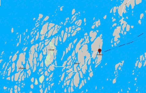Strømbrudd i en sjøkabel. 400 husstander uten strøm søndag på Brasøy og i Husvær og Sandvær