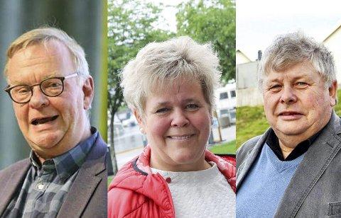 Utvalgsledere: Per Harald Agerup (Sp) leder regulering- og kommunalteknikk, Mette Måge Olsen (Ap) leder oppvekst og Karl Einar Haslestad (Ap) skal lede utvalg for helse og omsorg.arkivfoto