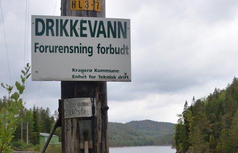 Bilde fra Grøtvann, som er hovedvannkilden til Kragerø.