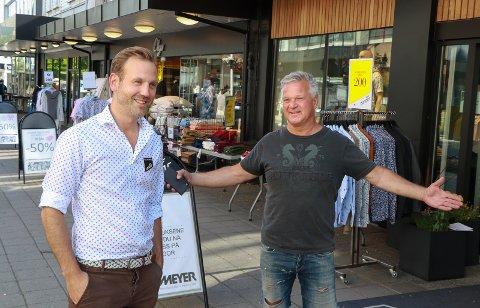 LIVLIG: Nils Konrad Bua og Geir Jakobsen sier Haugesund sentrum er friskere og sprekere enn på lenge.