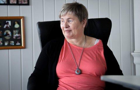 Bor hjemme: Det skjer mye innenfor velferdsteknologien fremover. For Lene Teigen som har hatt et hjerneinfarkt, gjør det at hun kan bo hjemme.